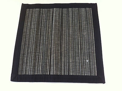 Black and White Straw Rani Placemat - 35 x 35cm