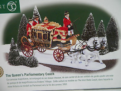 Dept 56 Dickens Village The Queens Parlimentary Coach Nib