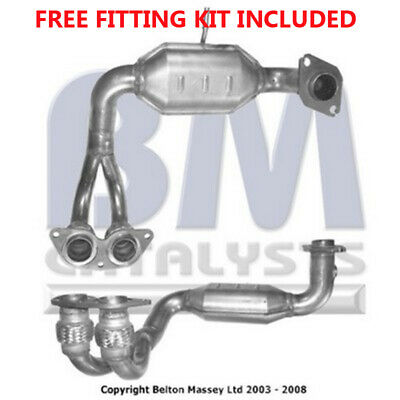 Fit with TOYOTA MR2 Catalytic Converter Exhaust 91053H 1.8 (Fitting Kit Included