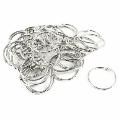40 Pcs Staple Book Binder 43mm Outer Diameter Loose Leaf Ring Keychain