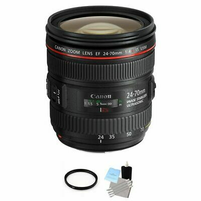 Canon EF 24-70mm F/4.0 USM L IS Lens + UV Filter & Cleaning Kit