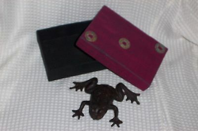BULLFROG  Cast Iron Collectible with Silk Gift Box  paperweight