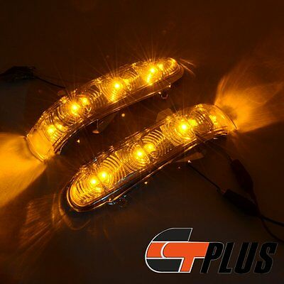 Amber Led Mirror Turn Signal Light For 99-02 Mercedes Benz W220 W215 Cl S Class