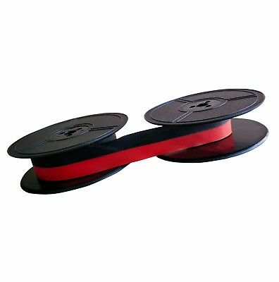 Typewriter Ink Ribbon Olympia Simplex Portable Twin Spool Black / Red 1001Fn