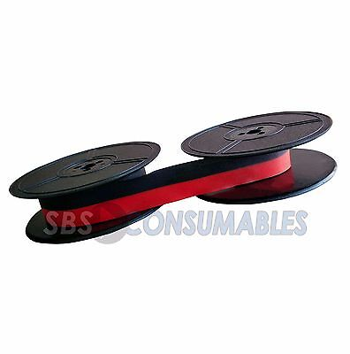 Typewriter Ink Ribbon Triumph Adler Rover Deluxe Ep101 Spool Black / Red 1001Fn
