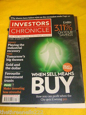 Investors Chronicle - Make Investing Less Stressful -  Aug 21 2009