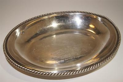 European Silver 835 Large Oval Platter mid 20th century w/Lion's Mark