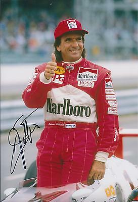 Emerson FITTIPALDI Autograph SIGNED Marlboro Racing 12x8 Photo AFTAL COA