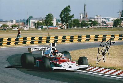 Emerson FITTIPALDI Autograph SIGNED Texaco McLAREN 12x8 Photo AFTAL COA