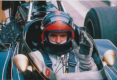 Emerson FITTIPALDI Autograph SIGNED LOTUS Cosworth 12x8 Photo AFTAL COA