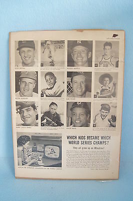 """1956 Wheaties ad from Time Life Magazine 10"""" x 14"""": Musial, Mays, Mantle, Yogi B"""