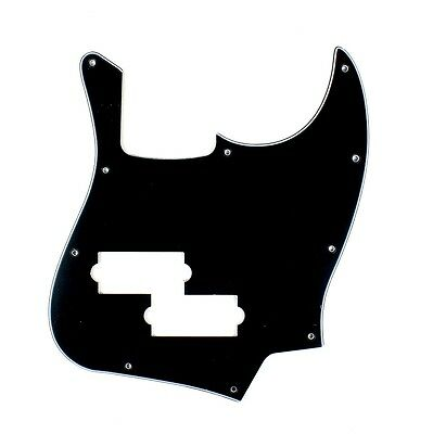 (E01) 3 Ply Guitar Pickguard For Fender Black Top Jazz Bass with PB Pickup hole