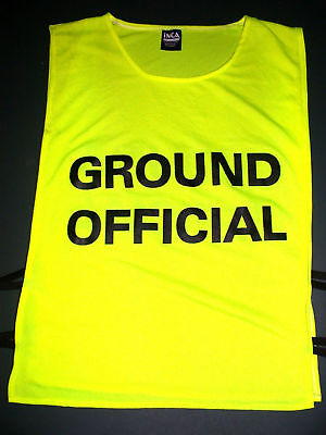 New Ground Official Vest Printed Front and Back Fits Adult to XL for any Sport
