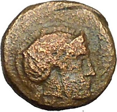 Klazomenai in Ionia 400BC Athena & Ram Authentic Ancient Greek Coin i34361