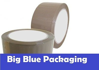 BROWN PACKAGING TAPE Premium 36 x packing tape adhesive sticky 48mm  roll rolls