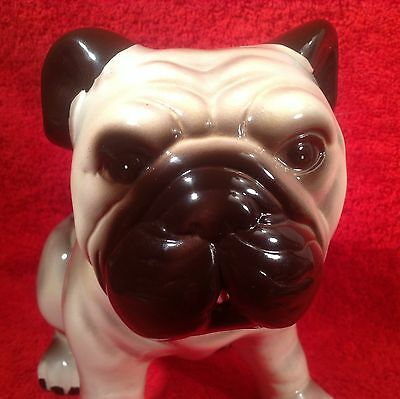Great Antique Vintage Majolica English Bulldog Figurine, gm812