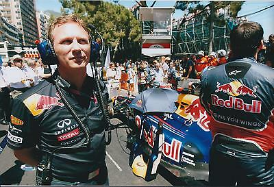 Christian Horner SIGNED Red Bull RACE DAY AUTOGRAPH 12x8 Photo AFTAL COA