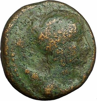 Greek city of Amphipolis Macedonia Artemis Goddess on Bull Ancient Coin i34368
