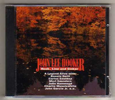 JOHN LEE HOOKER - HOOK, LINE AND SINKER - CD LIVE  NO CDr RARO SEALED MINT