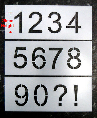 25mm Number Industrial Stencils