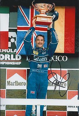 Nigel MANSELL SIGNED Mexico Podium 12x8 Photo Autograph AFTAL COA