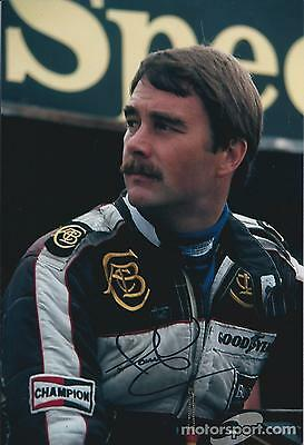 Nigel MANSELL SIGNED Portrait Shot RED 5 12x8 Photo Autograph AFTAL COA Genuine