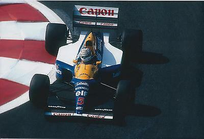 Nigel MANSELL SIGNED RED 5 12x8 Photo Autograph AFTAL COA WILLIAMS Genuine