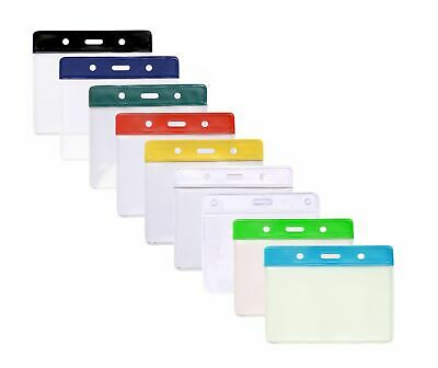 Flexible Plastic ID Card Holder Pocket 93x65mm 7 Colours Available Free P&P