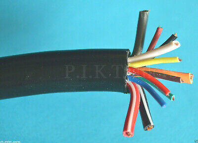 2 Metres Heavy Duty 12 Core Cable for 13 Pin Plugs & Sockets Caravans & Trailers