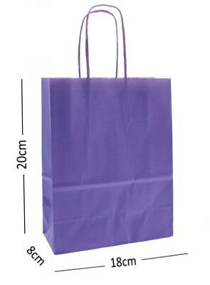 Red Birthday Party Gift Bags Kraft Paper Loot Gift Bag With Handles *