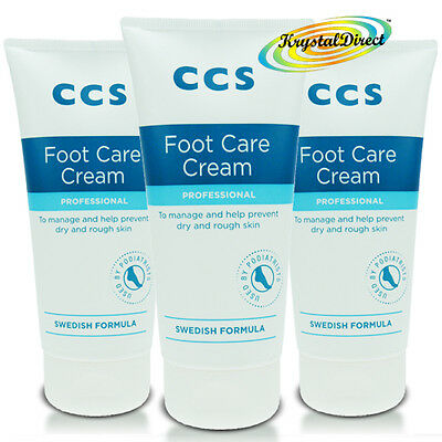 3x CCS Swedish Foot Care Cream Professional 175ml For Dry And Rough Skin Feet