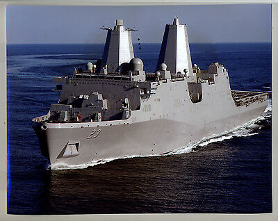 """PCU Anchorage LPD-23 Gulf of Mexico May 15, 2012 Color 8"""" x 10"""" Photograph"""