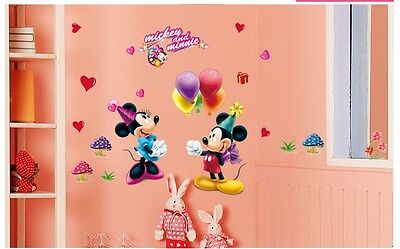 Mickey Mouse #1Minny Wall Decor Nursery Decal Stickers Removable Kids Boys Girls
