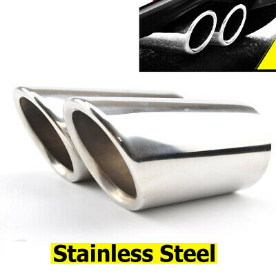2Pcs Chrome Exhaust Tailpipe Tail Pipe Tip Muffler End Trim For Jetta Golf Mk6