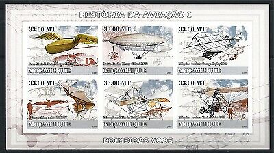 MOZAMBIQUE MOSAMBIK 2009 HISTORY OF AVIATION AIRCRAFT MNH MiNr: 3216 - 3221 B