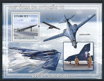 MOZAMBIQUE MOSAMBIK 2009 HISTORY OF AVIATION AIRCRAFT MNH MiNr: BLOCK 258 A
