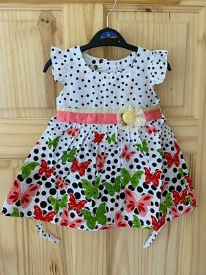 baby girls summer dress 6-12-18-24 months new BUTTERFLY pattern baby clothes