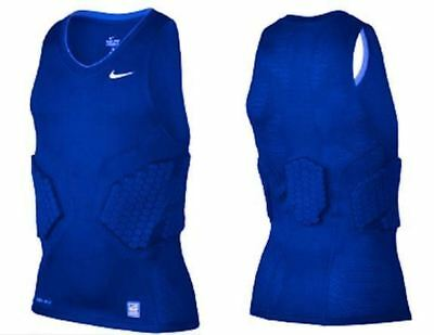 d25b72359 NIKE Pro Combat Deflex 2.0 Padded Blue Basketball Compression Tank Top Mens  2XL