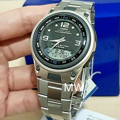 Casio Aw-82D-1A Moon Phase Fishing Timer Alarms Analog Quartz Men's Watch Aw82D