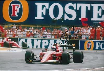 Alain Prost SIGNED Autograph 12x8 Photo AFTAL COA FORMULA 1 Winner FERRARI GP