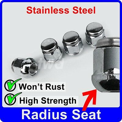 4 x ALLOY WHEEL NUTS FOR HONDA CIVIC (ROUND SEAT) STAINLESS CAP LUG BOLT [J10]