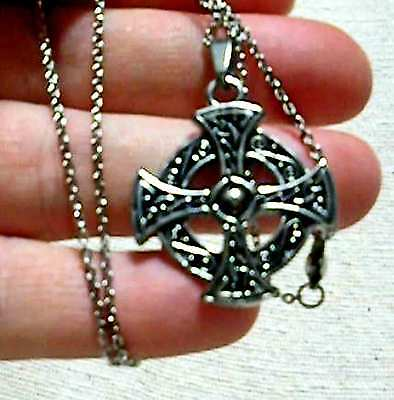 Four Quarters Celtic Cross and chain - stainless steel
