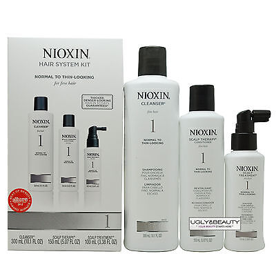 Nioxin System 1 Kit, Normal to Thin-Looking for Fine Hair
