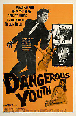 Dangerous Youth 1958 Original Movie Poster Comedy Crime Musical
