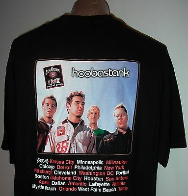 Jim Beam Live Hooberstank 2004 Usa Concert Series Men's Xl Black T-Shirt, New!