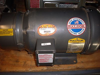 Baldor 3 HP, 3 Phase,1725 RPM, Frame 182T , With Brake