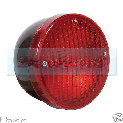 12V24V Volt Universal Rear Round Hamburger Fog Lamp Light Kitcar/caravan/trailer