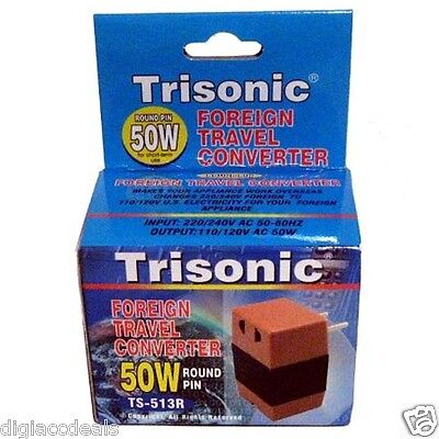 Trisonic Foreign Travel Converter 50W TS-513R 220 TO 110V