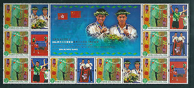 Hong Kong 2004 Olympics Table Tennis Silver Medal block of 8 unmounted mint.