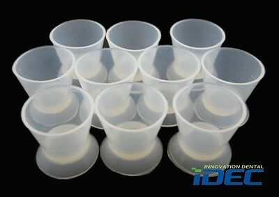 Free shipping 10PCS Super Large size 65*55mm Dental Lab Silicone Mixing Bowl Cup